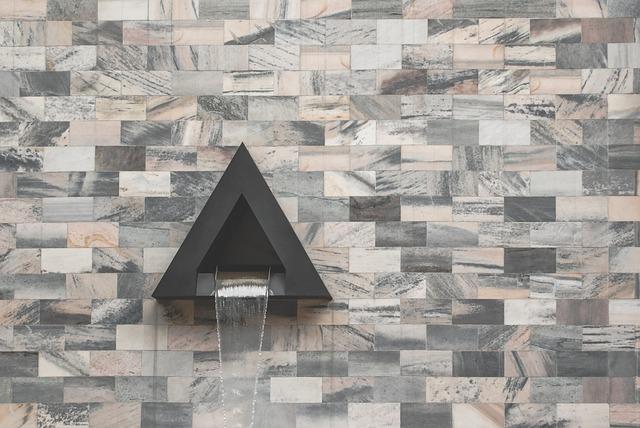 Wall, Architecture, Tiles, Design, Fountain, Stone