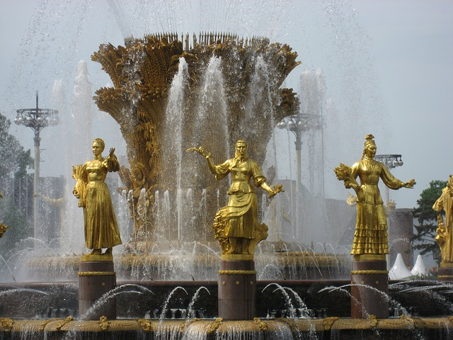 Fountain, Women, Moscow, Russia, Historically, Figure