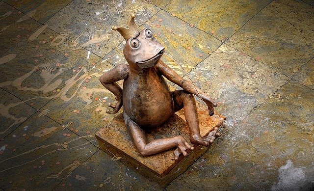 Gargoyle, Frog, Sculpture, Water Basin, Fountain, Coins