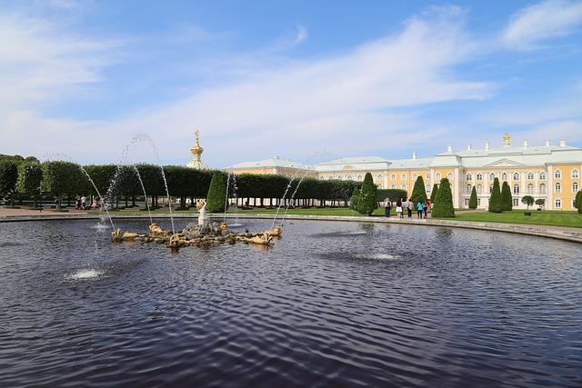 Petersburg, Architecture, Travel, Fountain