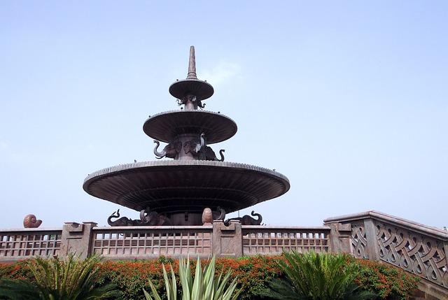 Dalit Prerna Sthal, Memorial, Fountain, Sandstone