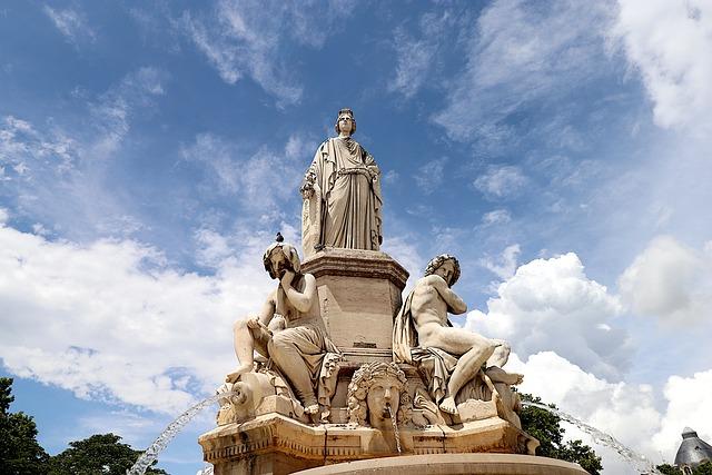Statues, Fountain, Sculptures, Pierre's Size, Monument