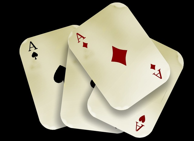 Cards, Play, Aces, Four, Diamonds, Heart, Clubs, Red