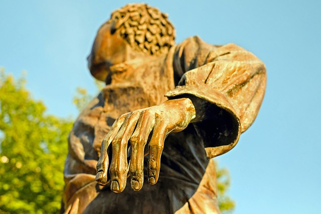 Hand, Finger, Four Fingers, Man Hand, Sculpture, Bronze