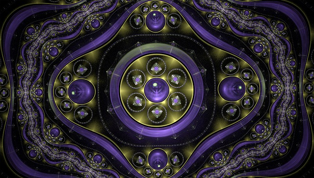 Fractal, Sparkling, Purple, Abstract, Fractal Art