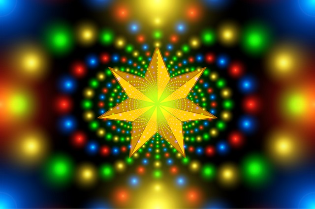 Christmas Star, Fractal, Symmetry, Pattern, Abstract