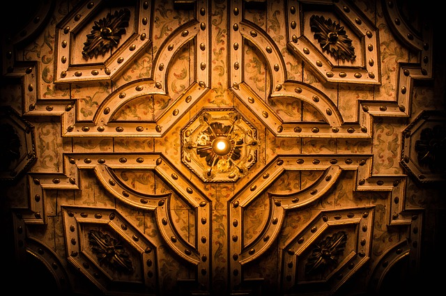 Fractal, Ceiling, Texture, Figure, Monuments, Cathedral