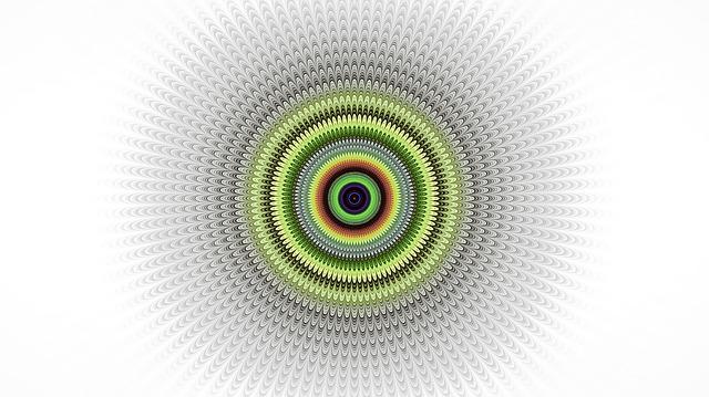 Fractal, Mandala, White Background, Intricate