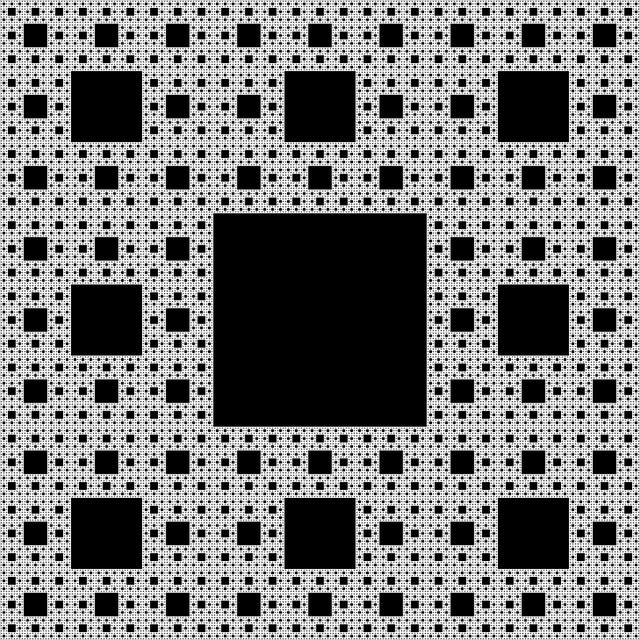 Fractal, Sierpinski-carpet, Self-similar, Recursive