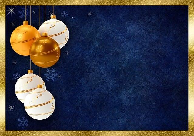 Christmas Balls, Frame, Background Image, Christmas