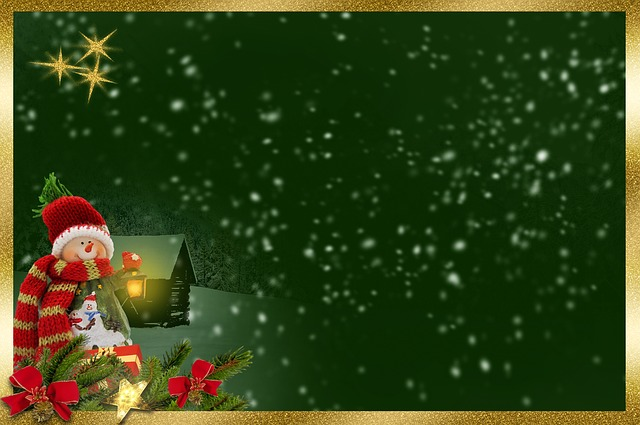 Snow Man, Frame, Background Image, Lantern, Light