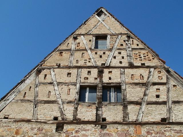 Barn, Timber Framing, Reilingen, Old, Frame, Rural