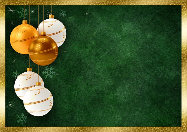 Christmas Balls, Frame, Background Image, Christmas