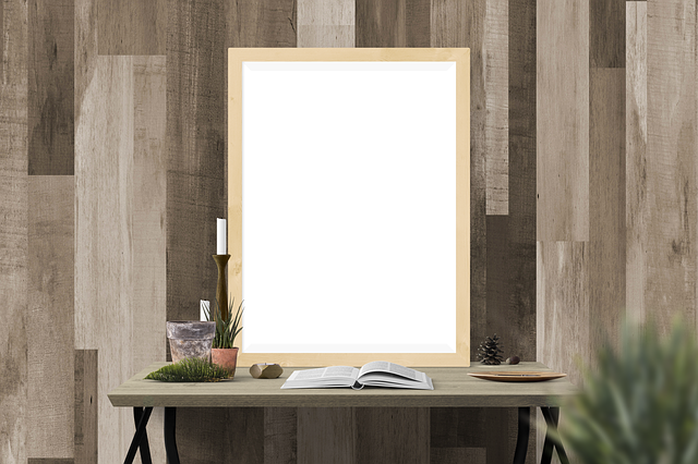 Desk, Picture, Book, Contemporary, Empty, Frame