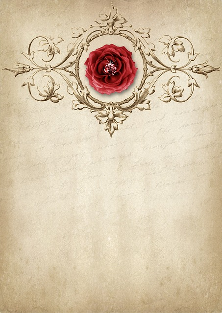 Rose, Frame, Diamond, Font, Drawing, Template