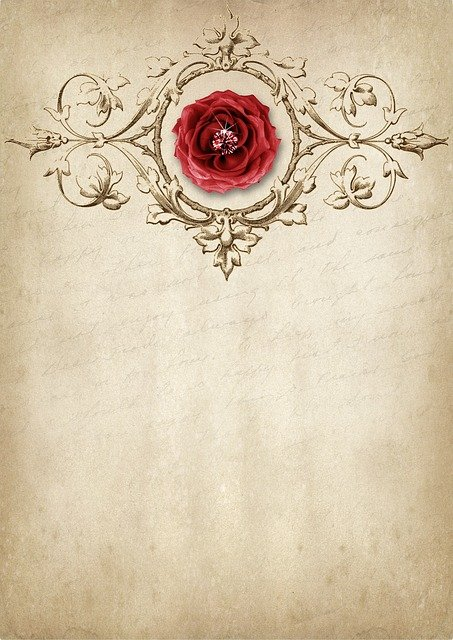 Rose, Frame, Diamond, Font, Drawing, Template