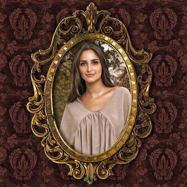 Portrait, Female, Romantic Portrait, Frame