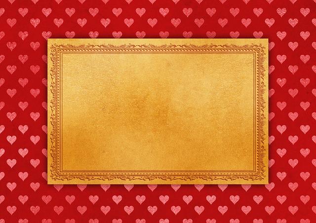 Frame, Heart, Paper, Background, Decorative, Invitation