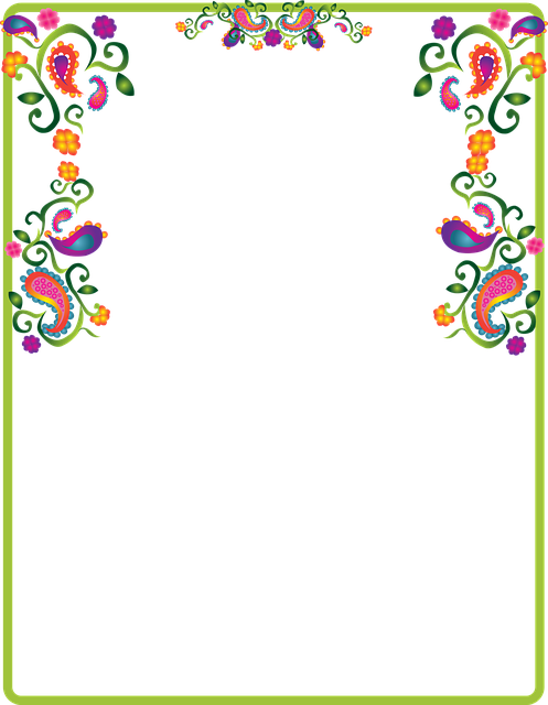Paisley, Decoration, Border, Note, Colorful, Frame