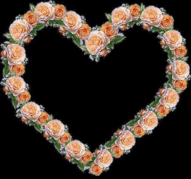Frame, Decoration, Roses
