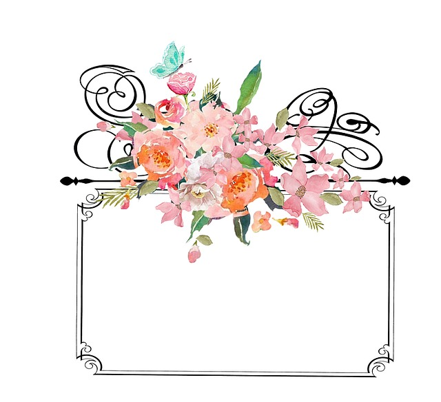 Frame With Flowers, Frame, Vintage, Flowers, Decorative