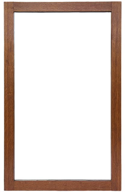 Mirror Frame, Frame, Mirror, Isolated, Wooden Frame