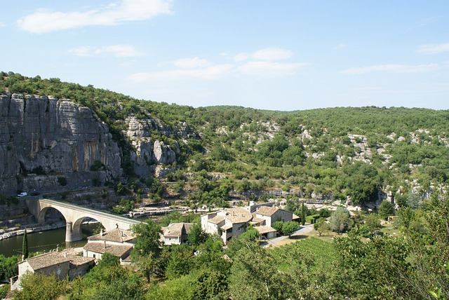 France, Ardeche, River