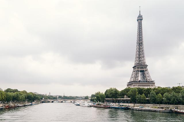 Architecture, Boats, Bridge, City, Eiffel Tower, France