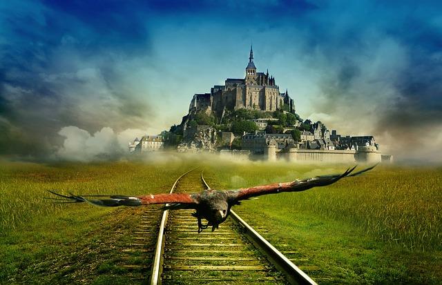 Saint Michel Brittany Monastery, France, Castle
