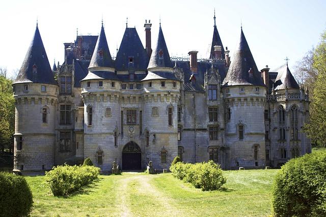 Château De Vigny, Facade, France, North