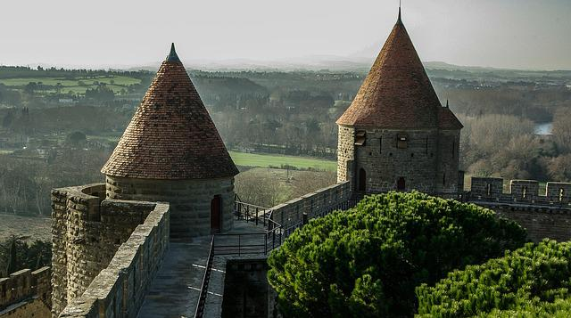 France, Carcassonne, Medieval City, Ramparts, Tours