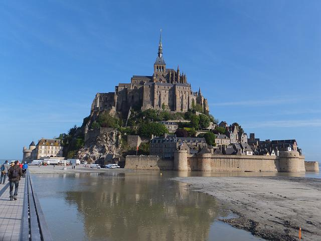Mont Saint Michel, Brittany, Monastery, France, Castle