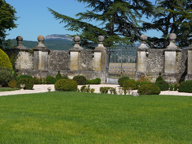 Chateau De Genas, France, Wall, Grounds, Estate, Nature