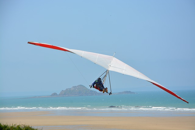 Delta-plane, Glider, Wings, Sport Free, France Normandy