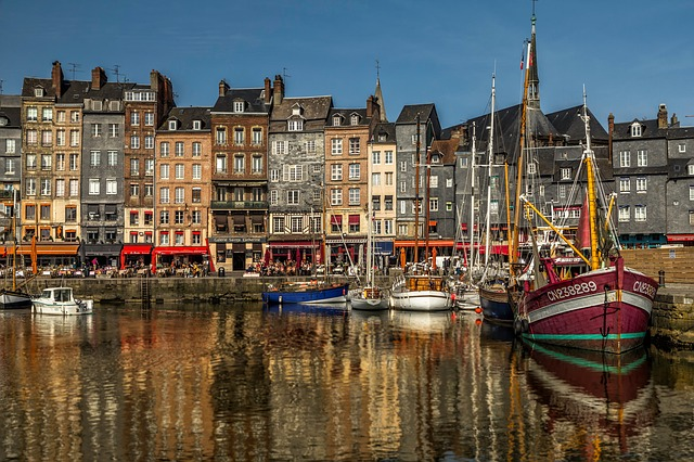 Honfleur, Tourism, Port, Boat, Reflection, France