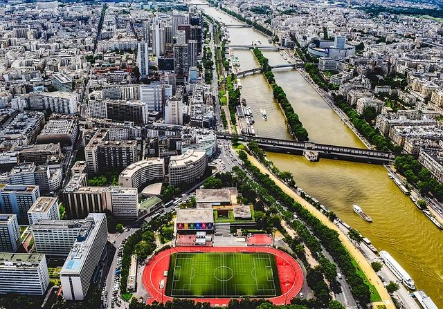 Paris, France, River Seine, Ships, Boats, Buildings
