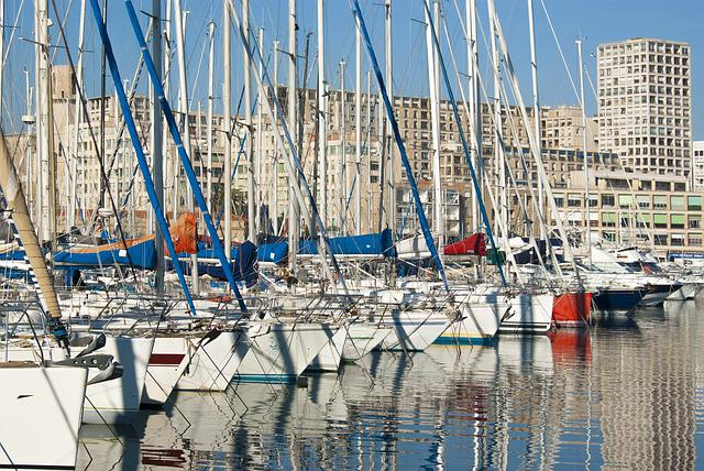 Harbor, Port, Sailboat, Boat, Marseille, France