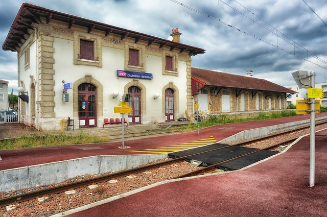 Gironde, France, Train Station, Depot, Railroad