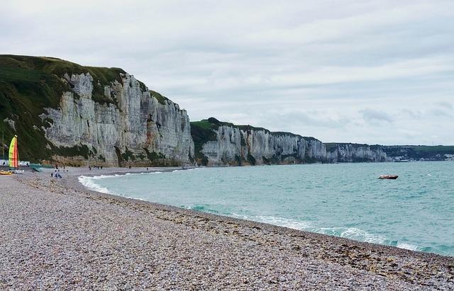 Sea, Coast, Rocks, France, Little Boat, Water, Beach
