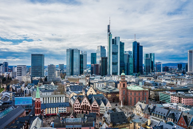 Frankfurt, Main, Skyline, Storm Clouds, Germany