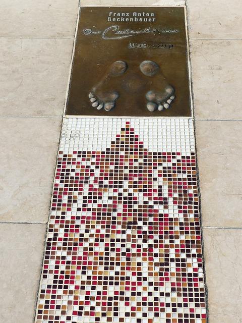Golden Foot, Footprint, Franz Anton Beckenbauer
