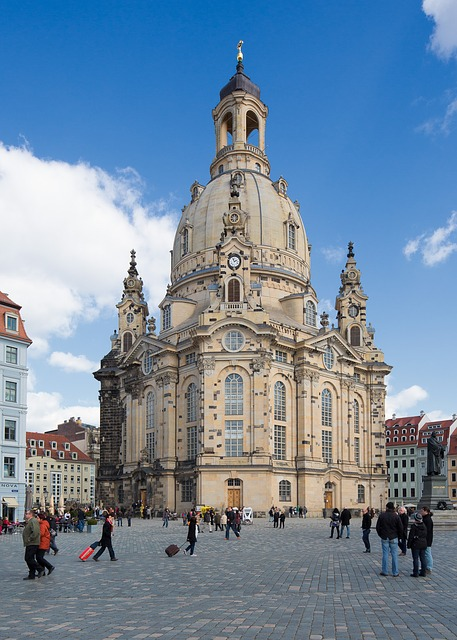 Dresden, Frauenkirche, Germany, Church, Historic Center