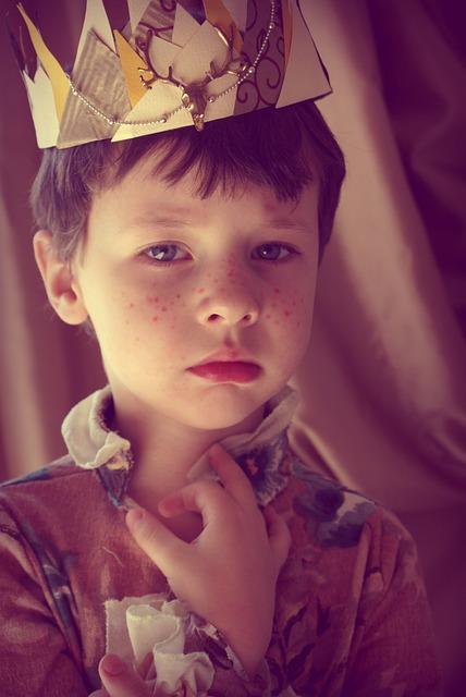 Boy, Prince, Crown, Freckles, King, Story, Magic, Elf