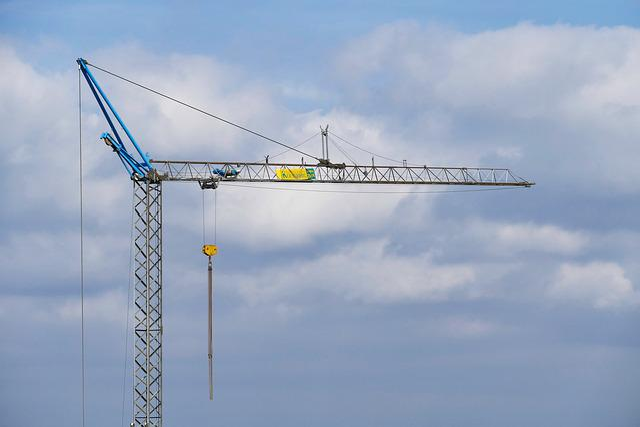 Sky, Industry, Crane, Baukran, Free, Site