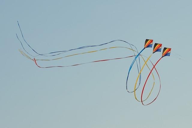 Wind Kite, Blue Sky, Air, Looping, Ribbons, Freedom