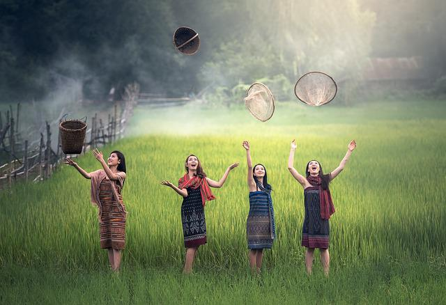 Rice, Green, Countryside, The Country, Freedom, Joy