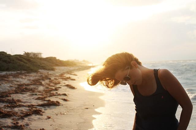 Sea, Sunset, Beach, Peaceful, Serenity, Freedom, Women
