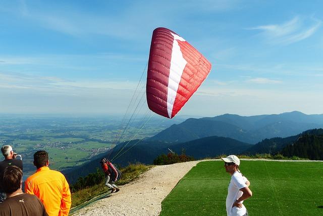 Paraglider, Start, Paragliding, Fly, Freedom, Tegelberg