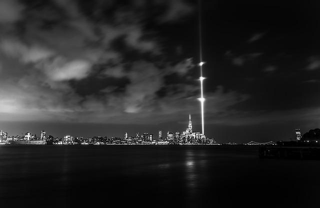 Freedom Tower, 911 Memorial, Nyc, 911 Lights Memorial