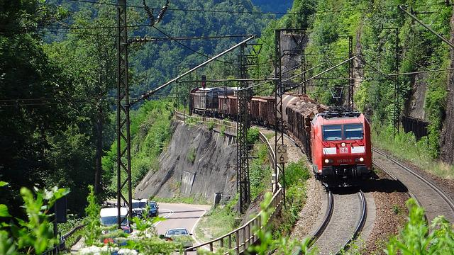 Geislingen-climb, Freight Train, Fils Valley Railway